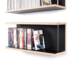 DVD Regal Bücherregal LIBRIT Birke Multiplex schwarz