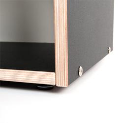 Boksa Regalsystem Modul in Birke-Multiplex schwarz
