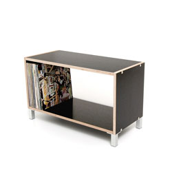 Cubic storage system BOKSA, plywood black