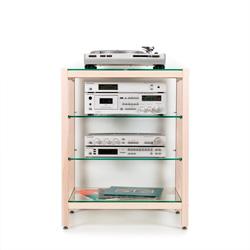 hifi rack quadra aus vollholz esche mit glasb den. Black Bedroom Furniture Sets. Home Design Ideas