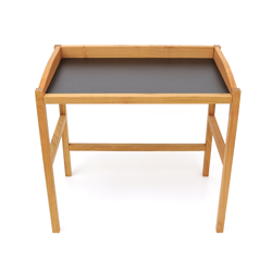 Secretary desk QUADRA made of cherry tree wood with black tabletop
