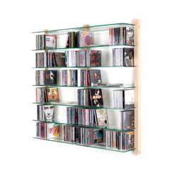 CD Regal Doppelelement Esche Massivholz