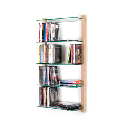 DVD Rack Shelving unit STORAY for 100 DVDs, ash tree
