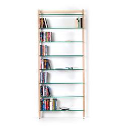QUADRA DVD-Regal oder Bücherregal aus Massivholz Esche