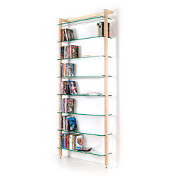 QUADRA DVD shelving unit and bookcase solid ash wood