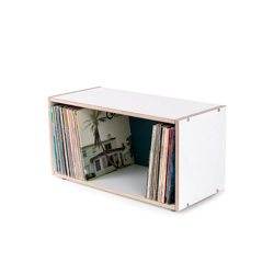 BOKSA 2 box shelf plywood white