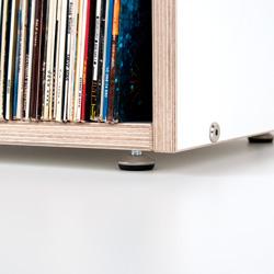 boksa kastenregal f r schallplatten aus birke multiplex weiss. Black Bedroom Furniture Sets. Home Design Ideas