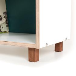 Möbelfüße aus Massivholz mit Einschraubmuffen, passend für BOKSA