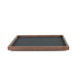 Large tray made of solid walnut wood