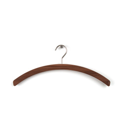 Elegant solid wooden walnut hangers for clothes