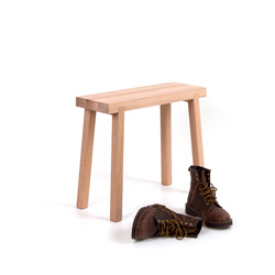 Bench stool Schemel made of solid oak