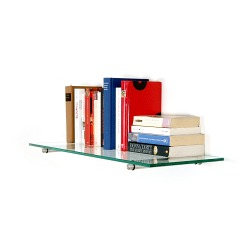 Set- clear glass shelf + Shelf support made of stainless steel 200mm