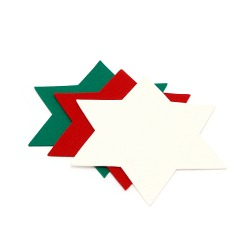Star coaster made of woolen felt, 28cm, in 3 saturated colors