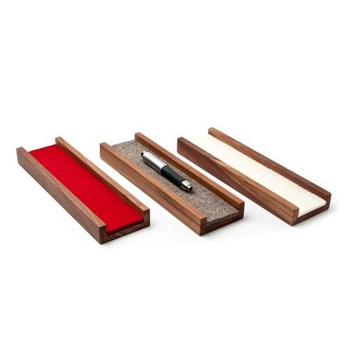 Stiftschale aus Nussbaum Massivholz