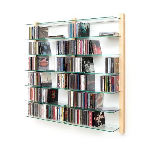 weitere bilder f r cd regal doppelelement aus ahorn holz f r 600 cds. Black Bedroom Furniture Sets. Home Design Ideas