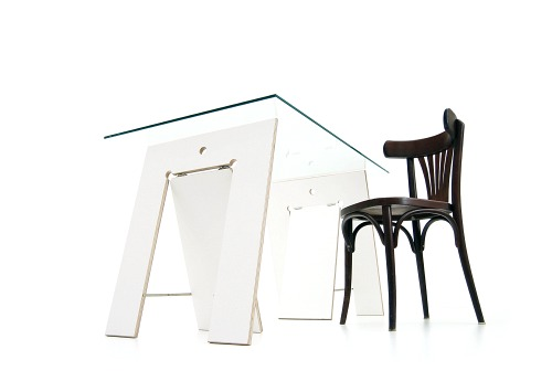 weitere bilder f r tischbock lycka aus birke multiplex weiss. Black Bedroom Furniture Sets. Home Design Ideas