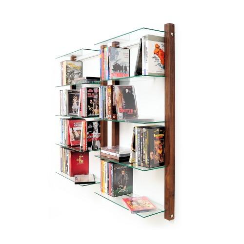 DVD-Regal STORAY Nussbaum Holz
