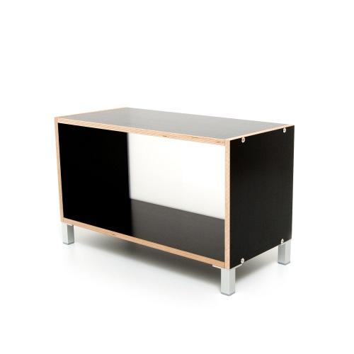weitere bilder f r boksa regalsystem modul in birke multiplex schwarz. Black Bedroom Furniture Sets. Home Design Ideas