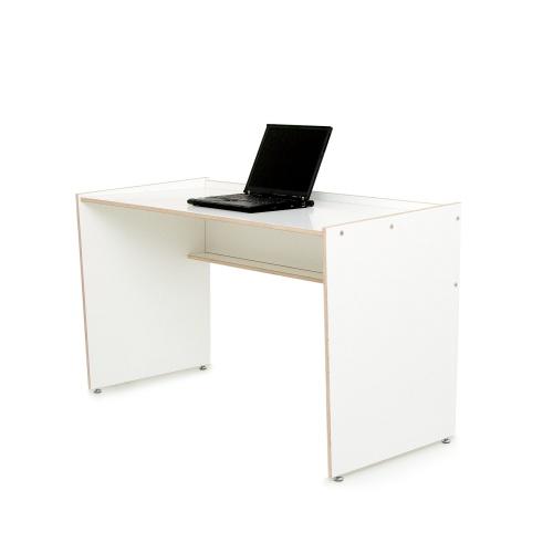 Schreibtisch design weiß  Schreibtisch DESK aus Birke Multiplex weiss