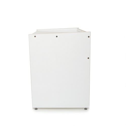 Design Schreibtisch DESK aus Multiplex weiß