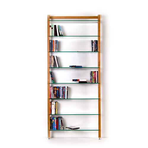 QUADRA DVD-Regal oder Bücherregal aus Massivholz Kirschbaum