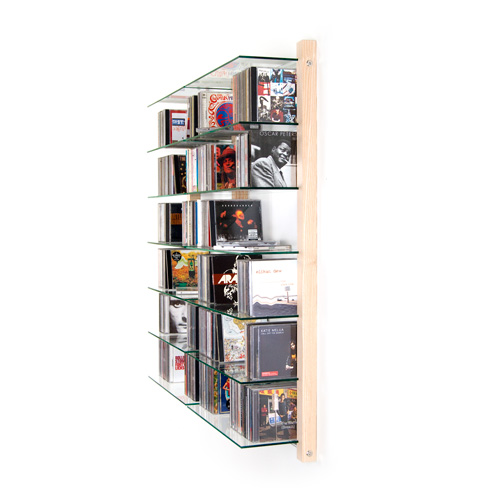 weitere bilder f r cd regal doppelelement aus esche holz f r 600 cds. Black Bedroom Furniture Sets. Home Design Ideas
