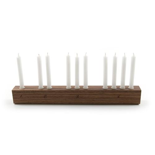 Nussbaum Kerzenständer Adventsleuchter Countdown