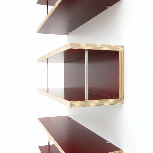weitere bilder f r fundgrubenangebot cd regal storit aus multiplex rot. Black Bedroom Furniture Sets. Home Design Ideas