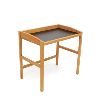 Projekt: #P61 - Sekretär aus Massivholz mit farbiger Tischplatte