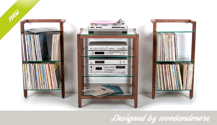 schallplattenregale cd dvd regale hifi rack online kaufen. Black Bedroom Furniture Sets. Home Design Ideas